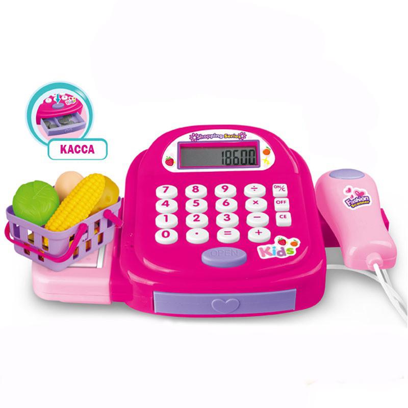 Детский игровой набор кассовый аппарат Cash Register с калькулятором, деньгами, звуковыми и световыми