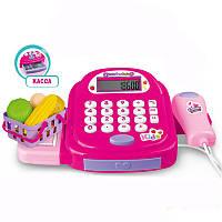 Детский игровой набор кассовый аппарат Cash Register с калькулятором, деньгами, звуковыми и световыми, фото 1