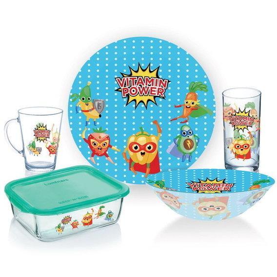 Набор стеклянный детский 5 предмета Luminarc Vitamin Power