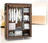 Тканевый шкаф складной STORAGE WARDROBE KM-105 90х45х170 см, органайзер для одежды