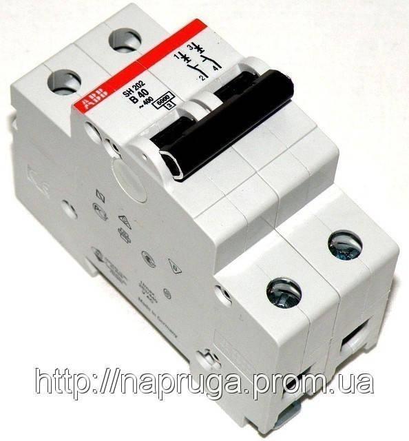 abb SH 202 B 63A- Автоматический выключатель abb(абб) -2-х полюс. автомат