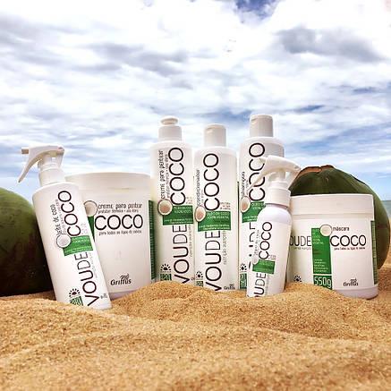 Флюид для восстановления волос на основе кокосового молока Griffus Leave-in Coco Vou de coco 240ml, фото 2