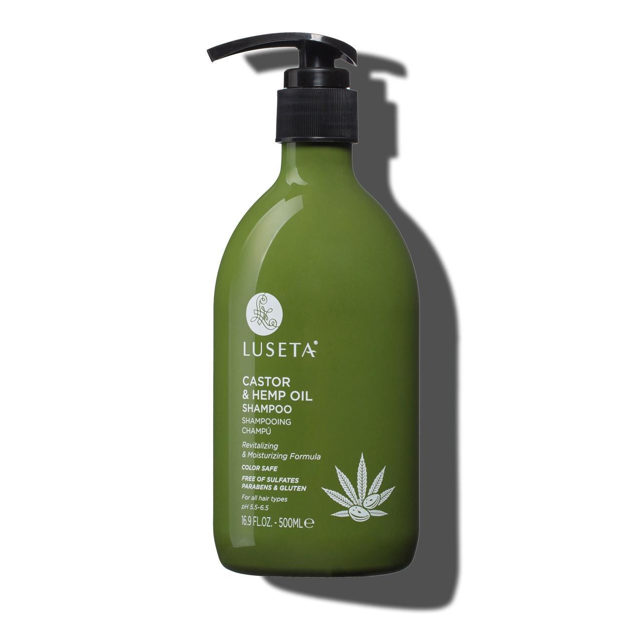 Шампунь для сухих и поврежденных волос Luseta Castor & Hemp Oil Shampoo 500 ml