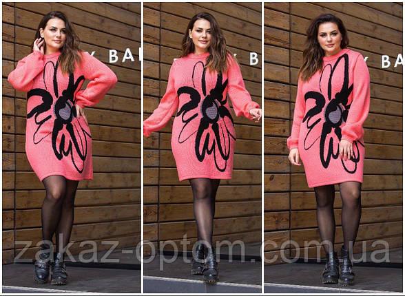 Платье теплое женское оптом(46-56)Украина-63028, фото 2
