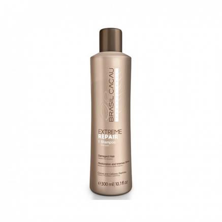 Шампунь для экстремального восстановления Cadiveu Brasil Cacau Extreme Repair Shampoo 300 ml, фото 2
