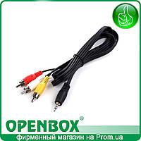 Кабель 3RCA - mini Jack для подключения к ТВ ресиверов Openbox AS4K 2X, AS4K CI Lite, AS4K Lite