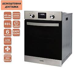 Духовой шкаф Ventolux MUNCHEN 6 TC (BKX) Нержавеющая сталь, Черное Стекло
