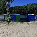 Пластиковая кабина для туалета с умывальником и помпой, фото 10