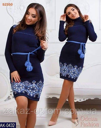 Платье теплое женское оптом(44-52)Украина-63042, фото 2