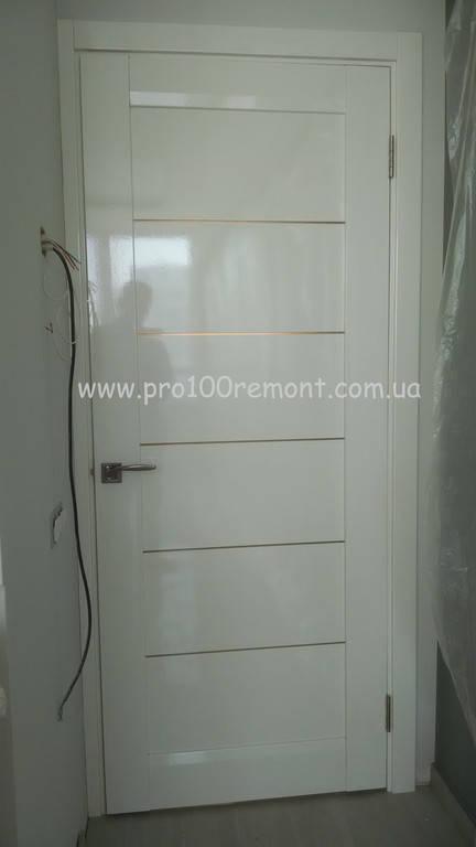 Установка дверей Bellwooddoors Мирелла в белой эмали