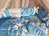 Детский постельный комплект в кроватку, одеяло-конверт, фото 3
