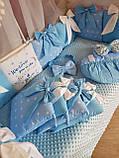 Детский постельный комплект в кроватку, одеяло-конверт, фото 4