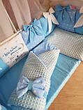 Детский постельный комплект в кроватку, одеяло-конверт, фото 5