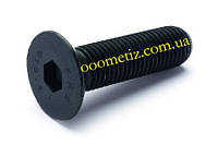 Винт М2х16 10.9 стальной без покрытия DIN 7991 с потайной головкой и внутренним шестигранником