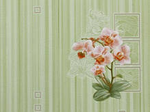 Обои, на стену, цветы, зеленые, виниловые, B49.4 Палома C867-04,супер-мойка, 0,53*10м, ограниченное количество, фото 3
