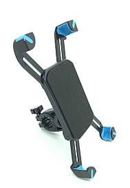 Крепление на руль велосипеда для телефон с синими вставками