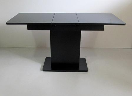 Стол в современном стиле раскладной со стеклянной столешницей  Готье Eurostek, цвет черный, фото 2