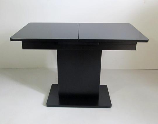 Стол в современном стиле раскладной со стеклянной столешницей  Готье Eurostek, цвет черный