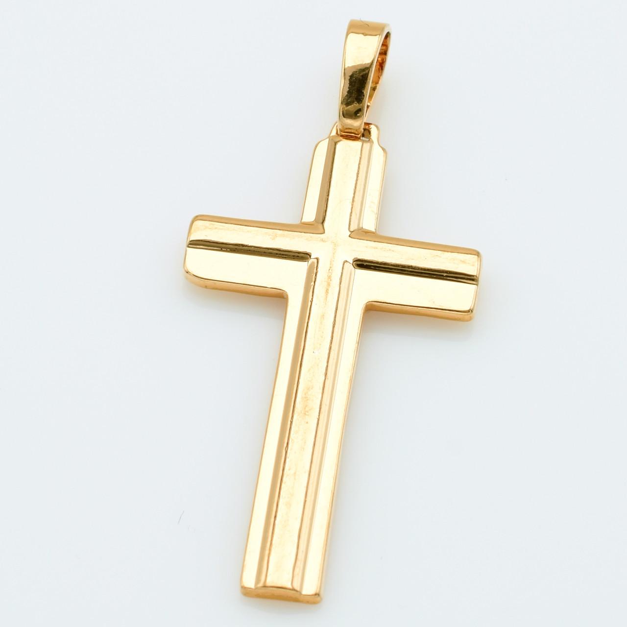 XUPING Кулон Крест Позолота 18к Высота 4.1см, Ширина 1.8см