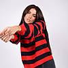 Трикотажная женская кофта в полоску в 4 цветах в размерах SM, ML, фото 2