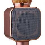 Беспроводной микрофон-караоке WS-1818 Розовое Золото, фото 3