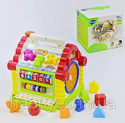 Развивающая музыкальная игрушка Теремок сортер, мелодии, звуки, подсветка от Hola