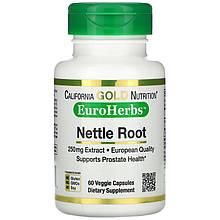 "Экстракт корня крапивы California GOLD Nutrition, EuroHerbs ""Nettle Root Extract"" 250 мг (60 капсул)"