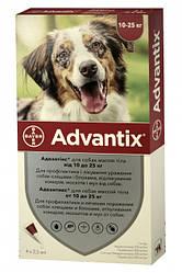 Advantix Bayer Байєр Адвантікс для собак від бліх та кліщів 10-25кг