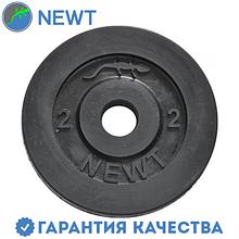 Диск стальной обрезиненный Newt Home 2 кг, диаметр - 28 мм