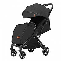 Детская прогулочная коляска черная Carrello Turbo черная рама утеплённый чехол для ножек дождевик
