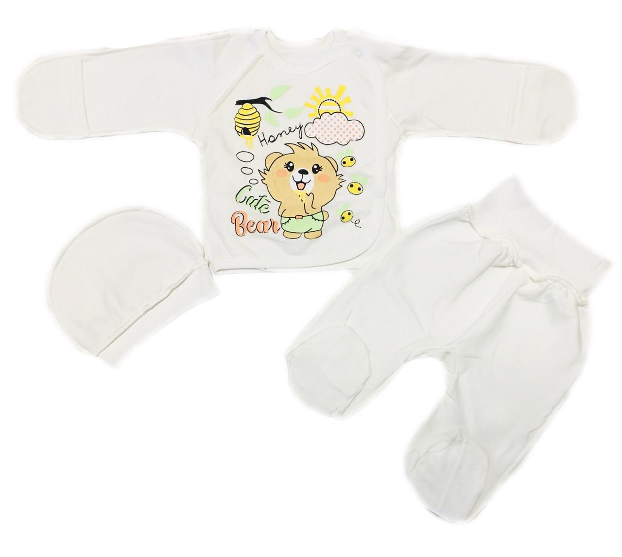 Теплий костюм набір для новонароджених на виписку, 56см