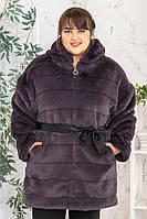 Шуба-эко утепленная Шиншилка №26-К р. 44-56, фото 1