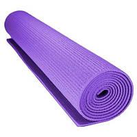 Коврик для йоги и фитнеса Power System Фиолетовый