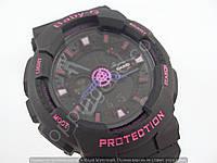 Детские часы Casio Baby G BA-110 3697B (013517) черные с розовым водонепроницаемые