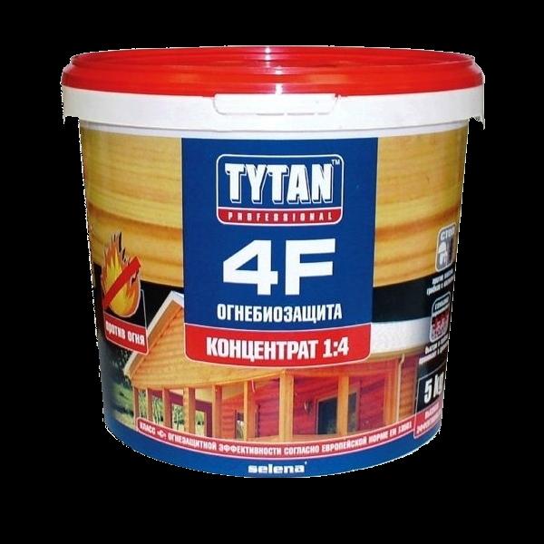 Состав «Огнебиозащита» для защиты древесины от грибка Tytan 4F, 5 кг