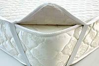 Наматрасник на резинках, чехол для матраса 200х200 синтепон/микрофибра