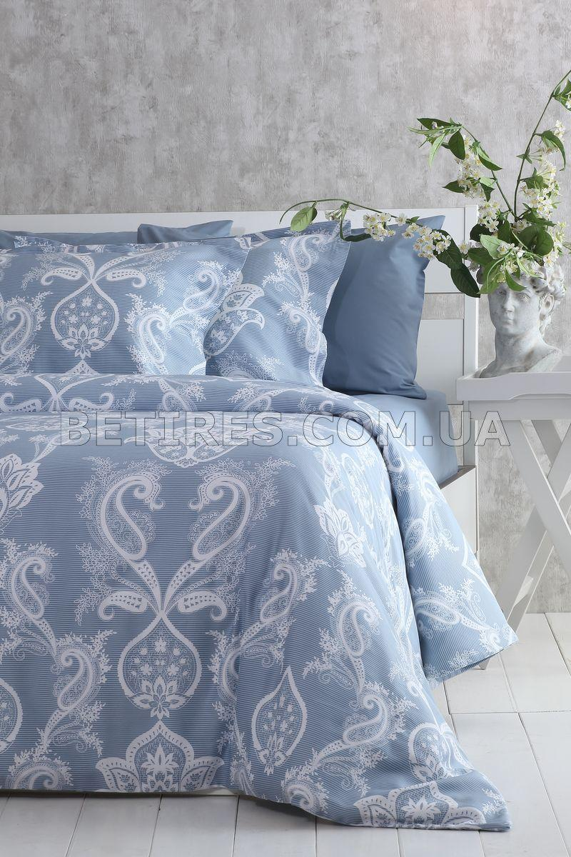 Комплект постільної білизни СІМЕЙНИЙ PAVIA CARLOTTE(INDIGO) блакитний
