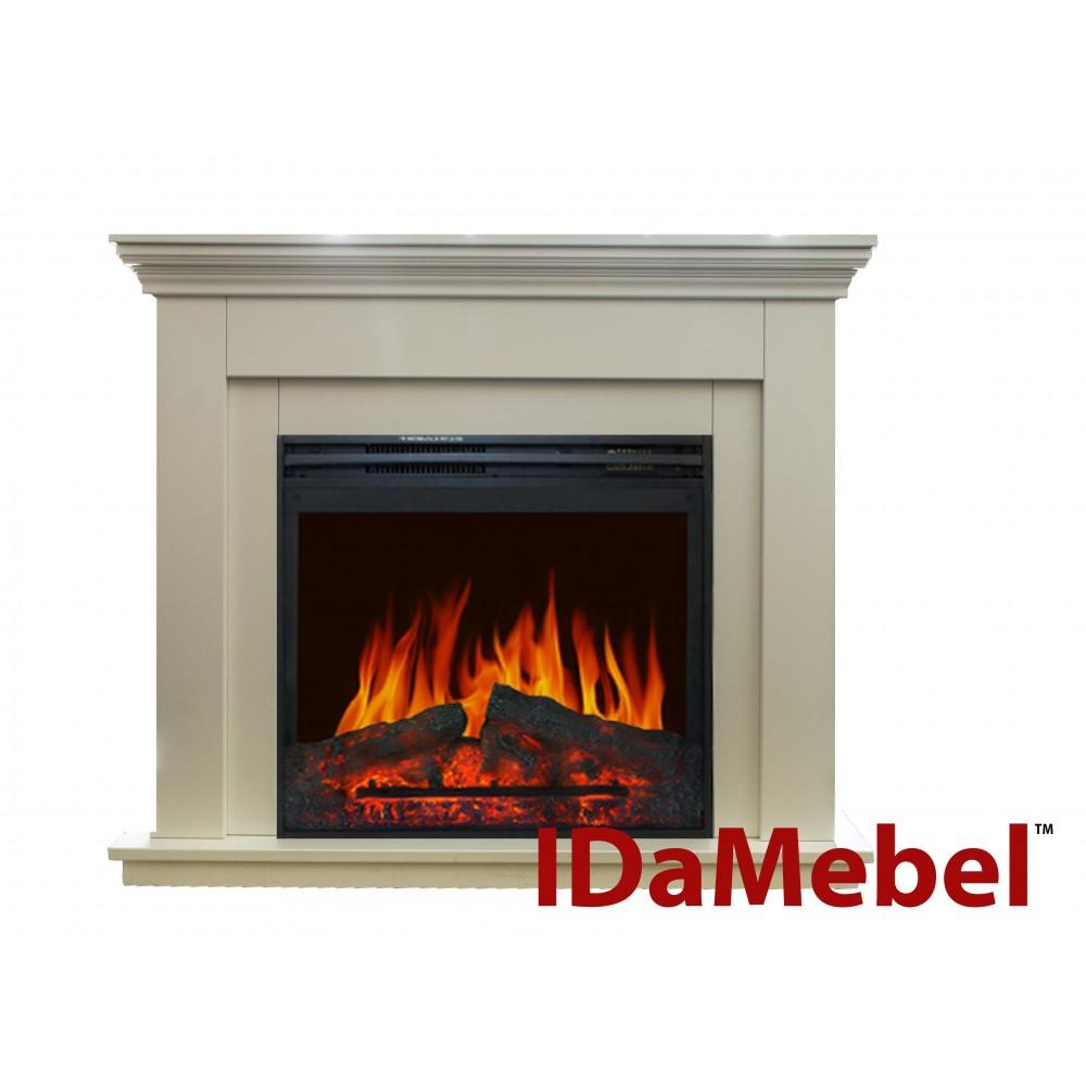 Современный каминокомплект IDaMebel Montreal Jupiter эффект пламени со звуком и обогревом