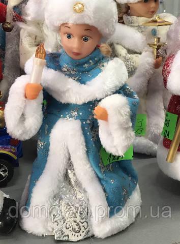 Снегурочка с Музыкой Новогодняя Игрушка В Ассортименте Высота 40 См