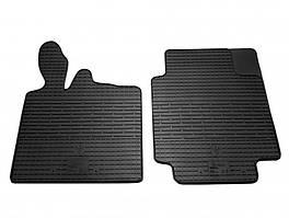 Комплект резиновых ковриков в салон автомобиля Smart 1998-2014 (1031012)
