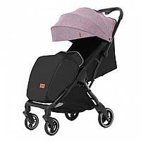 Детская прогулочная коляска розовая Carrello Turbo черная рама утеплённый чехол для ножек дождевик