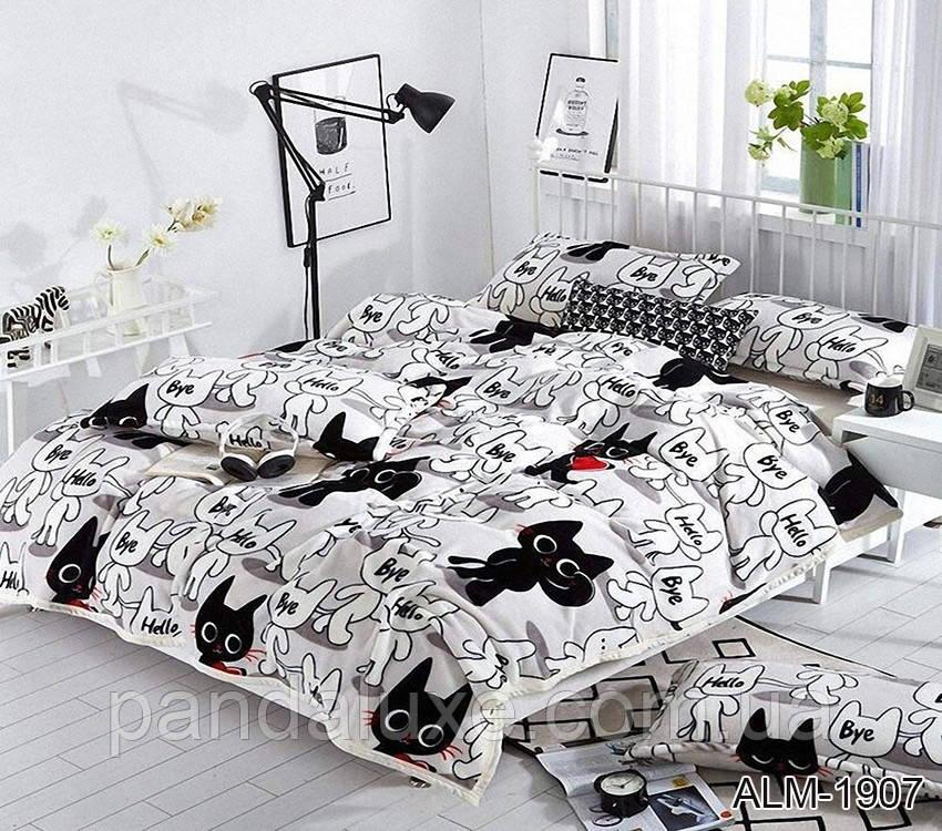 М'який теплий плед покривало велсофт (мікрофібра) полуторний Коти 160х220 на диван, ліжко, фото 2