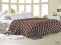 Мягкий плед покрывало велсофт (микрофибра) полуторный Сеть 160х220 на диван, кровать