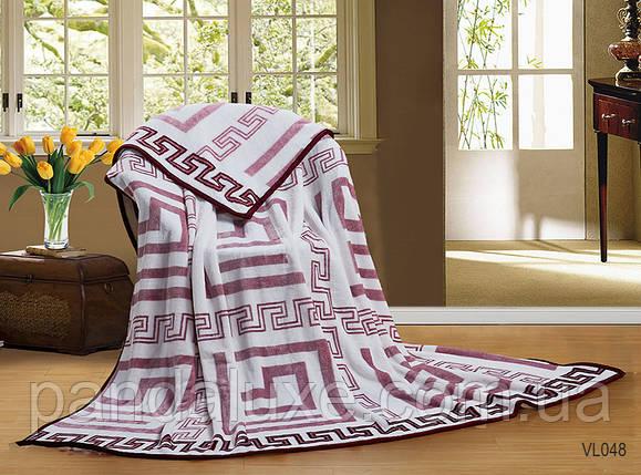 Мягкий теплый плед покрывало велсофт (микрофибра) двуспальный Лабиринт 200х220, на диван, кровать, фото 2