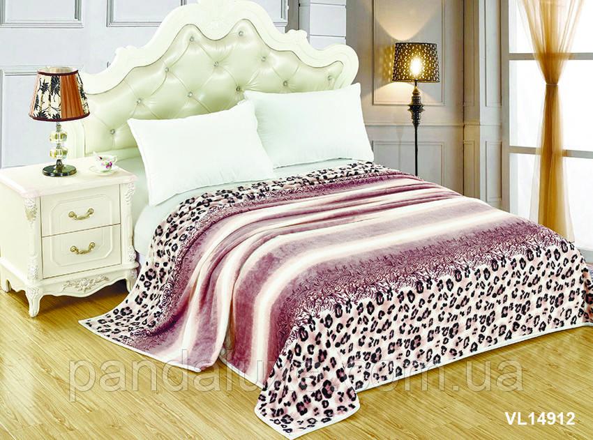 Мягкий плед покрывало велсофт (микрофибра) двуспальный 200х220 на диван, кровать