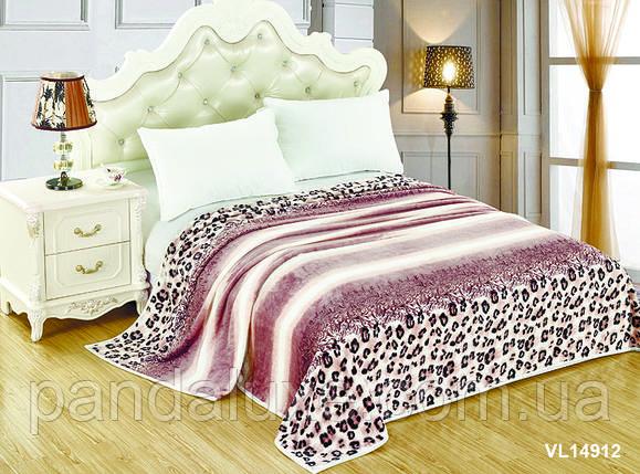 Мягкий плед покрывало велсофт (микрофибра) двуспальный 200х220 на диван, кровать, фото 2