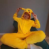 Пижама Кигуруми Пикачу детский микрофибра (велсофт) / детские кигуруми Размер 100 110 120 130 140