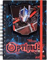Блокнот вырубка на обложке Transformers Kite,  металлическая спираль, 80 листов, А6