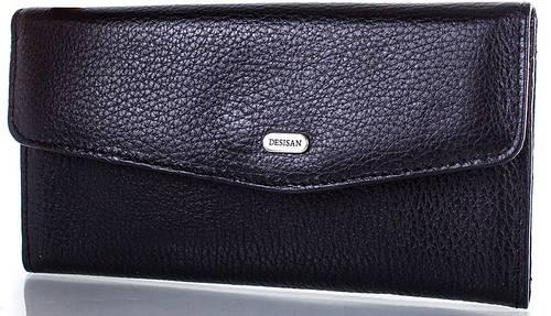 Практичный женский кожаный  кошелек DESISAN (ДЕСИСАН) SHI113 2-black (черный)