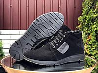 Мужские зимние замшевые ботинки Vankristi чёрные